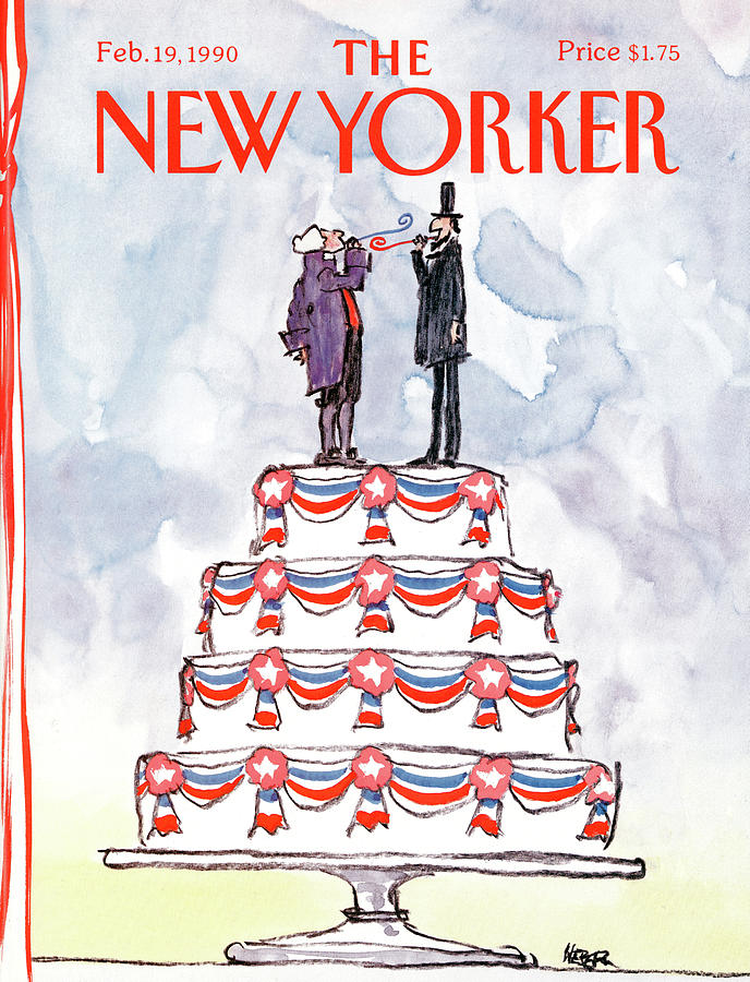 New Yorker February 19th, 1990 Painting by Robert Weber