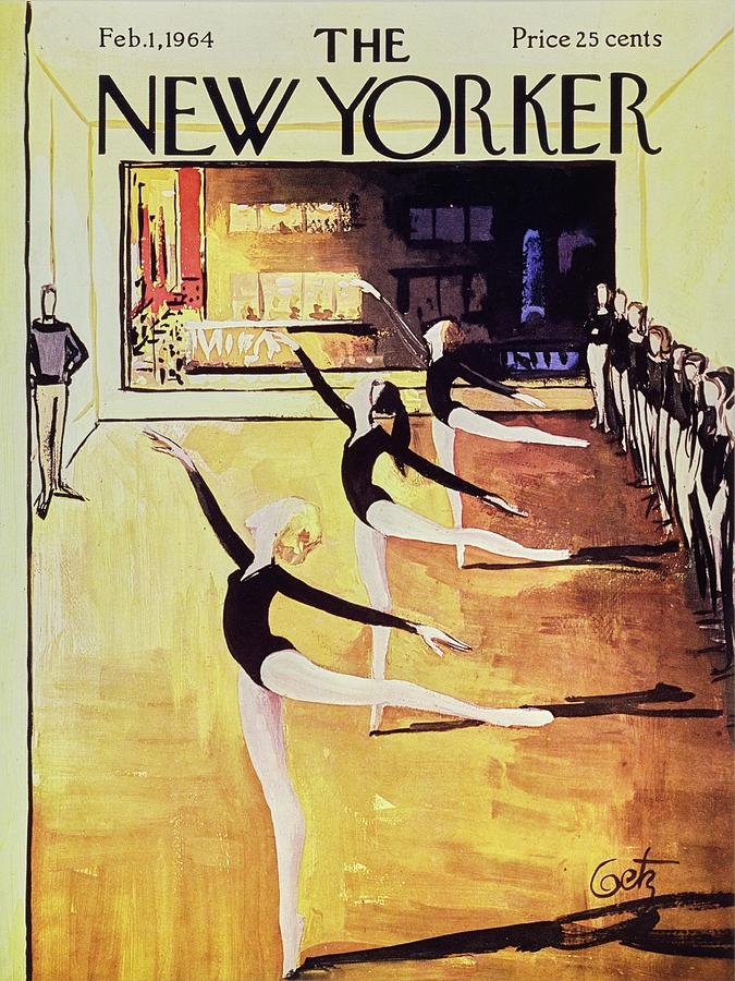 New Yorker February 1st 1964 Painting by Arthur Getz
