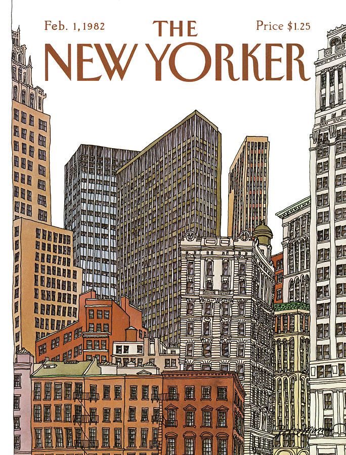 New Yorker February 1st, 1982 Painting by Roxie Munro