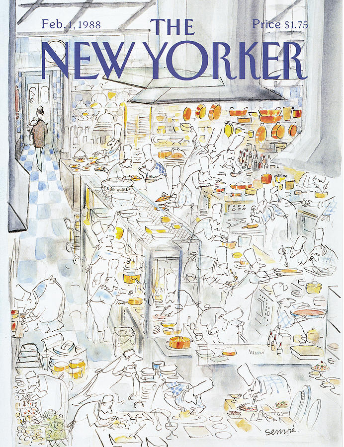 New Yorker February 1st, 1988 Painting by Jean-Jacques Sempe