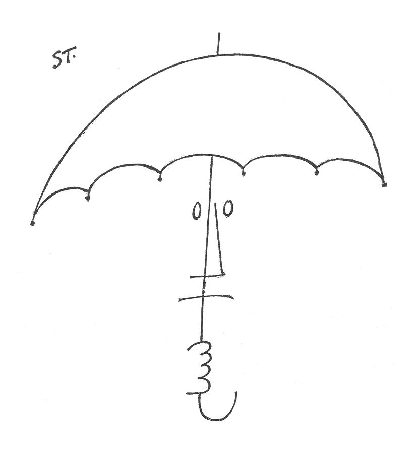 New Yorker February 20th, 1954 Drawing by Saul Steinberg