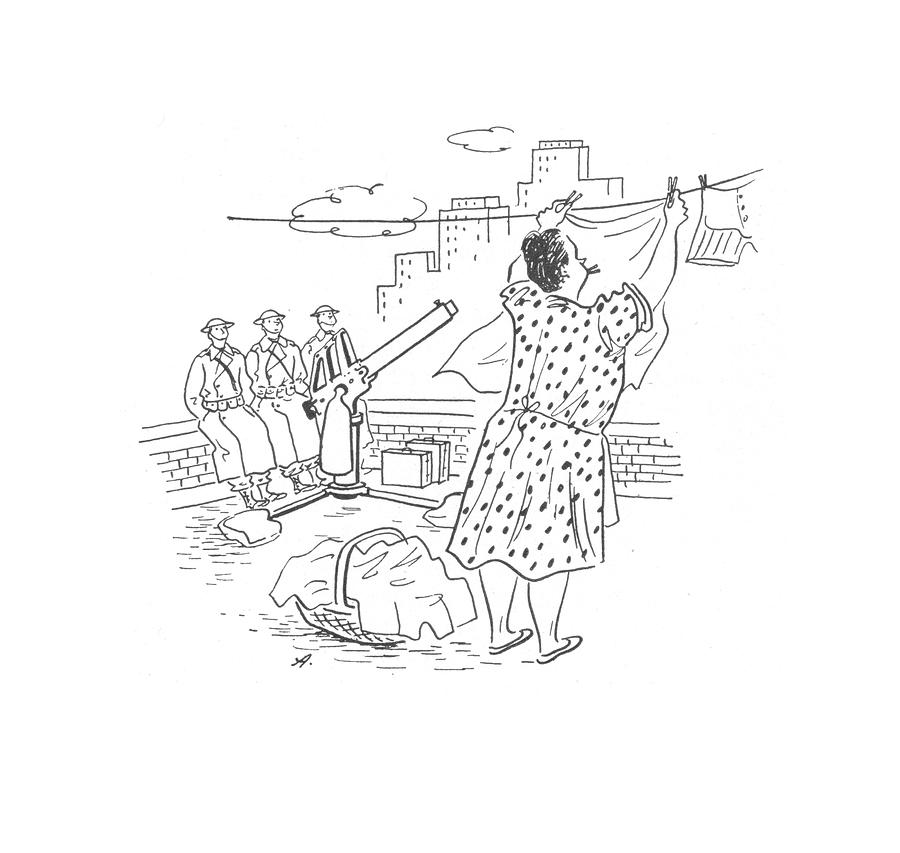 New Yorker February 21st, 1942 Drawing by Constantin Alajalov