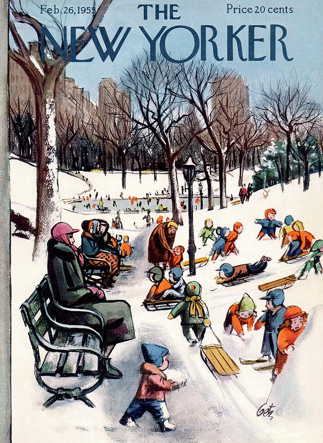 New Yorker February 26th, 1955 Painting by Arthur Getz