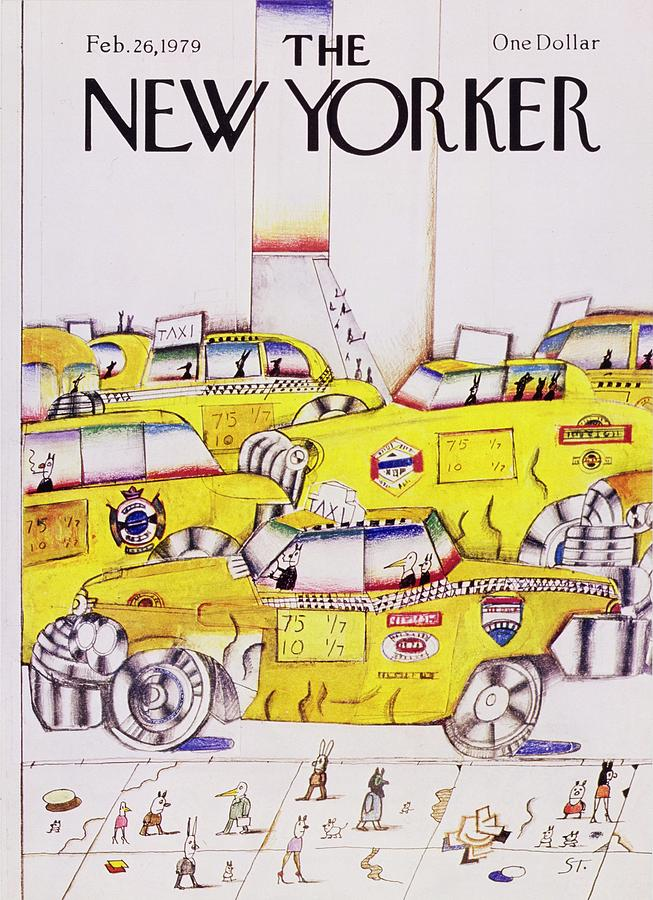 New Yorker February 26th 1979 Painting by Saul Steinberg