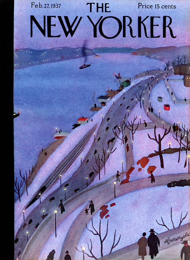 New Yorker February 27, 1937 Painting by Adolph K Kronengold