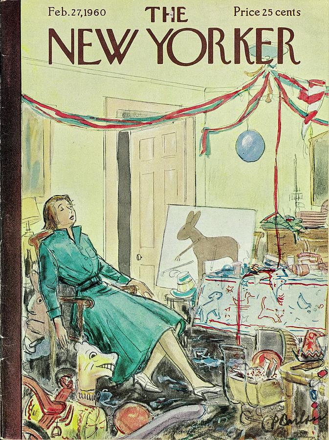New Yorker February 27th 1960 Painting by Perry Barlow