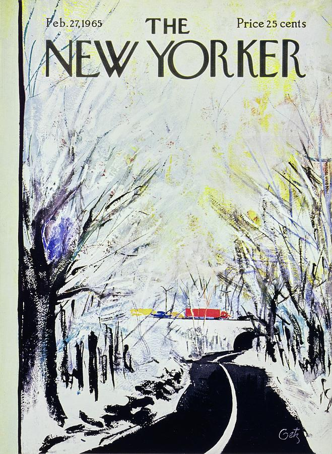 New Yorker February 27th 1965 Painting by Arthur Getz
