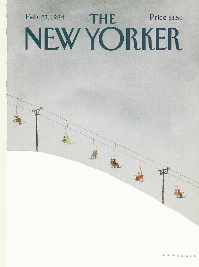 New Yorker February 27th, 1984 Painting by Abel Quezada