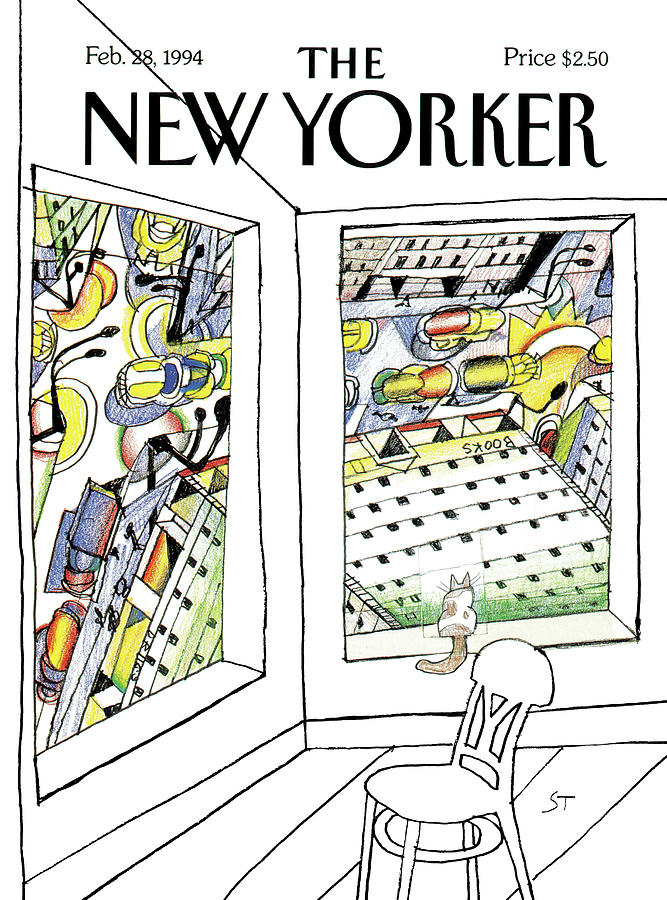 New Yorker February 28th, 1994 Painting by Saul Steinberg