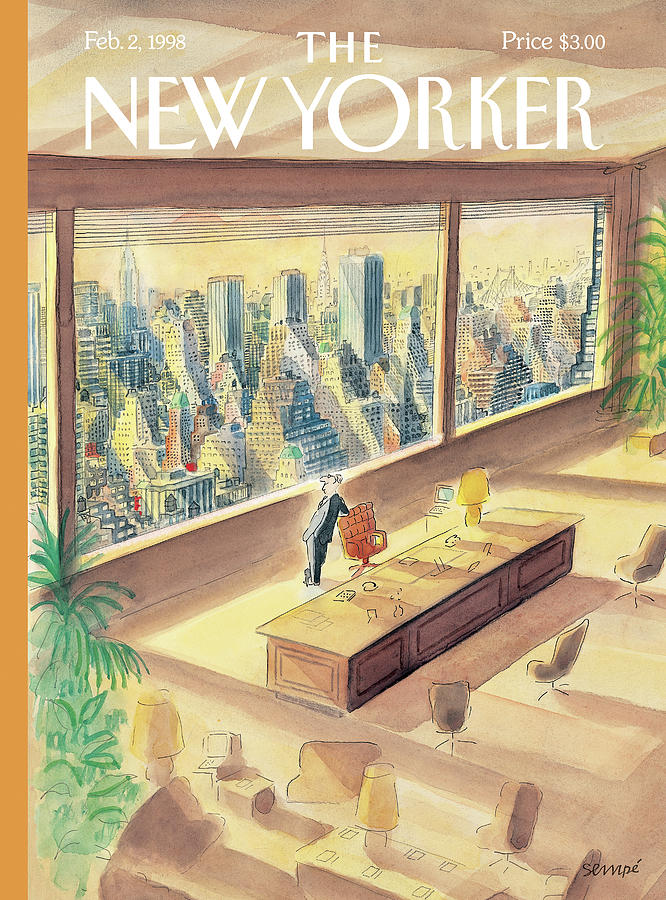 New Yorker February 2nd, 1998 Painting by Jean-Jacques Sempe
