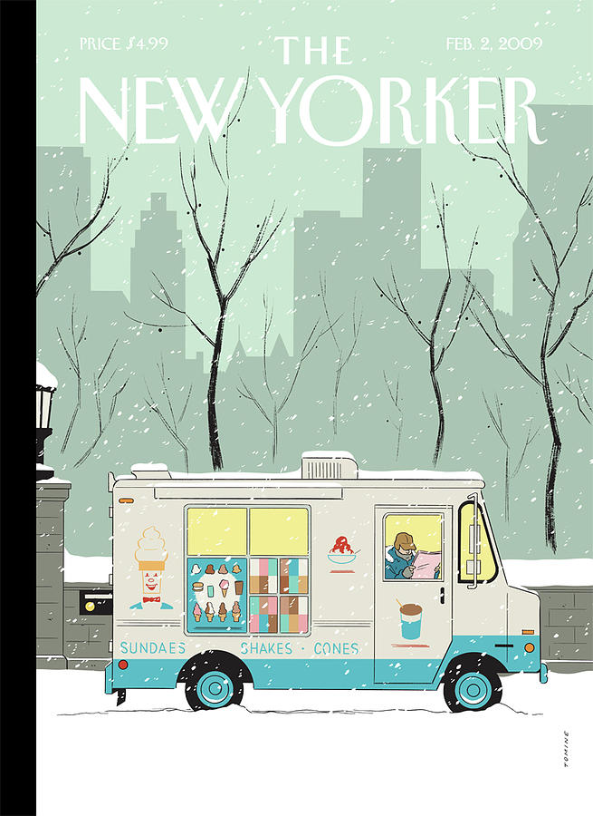 New Yorker February 2nd, 2009 Painting by Adrian Tomine