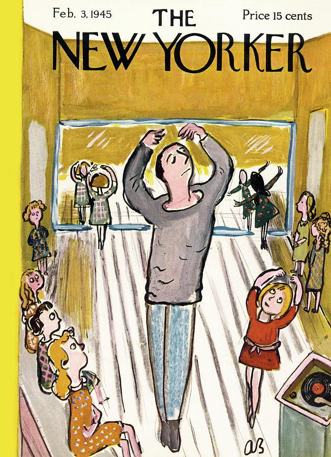 New Yorker February 3, 1945 Painting by Abe Birnbaum
