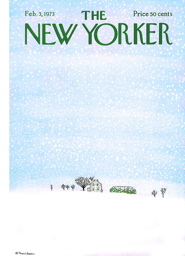 New Yorker February 3rd, 1973 Painting by Raymond Davidson