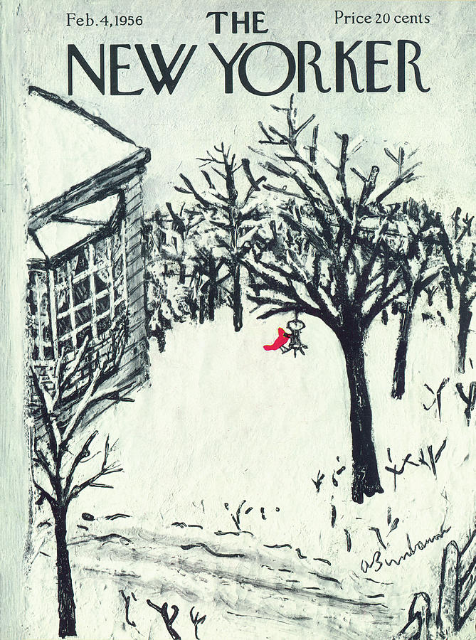 New Yorker February 4th, 1956 Painting by Abe Birnbaum