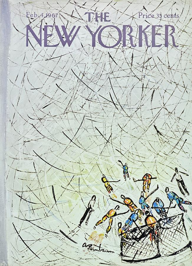 New Yorker February 4th 1967 Painting by Aaron Birnbaum