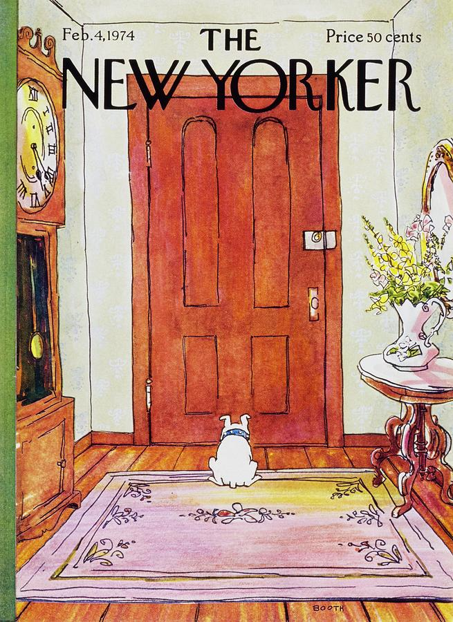 New Yorker February 4th 1974 Painting by George Booth