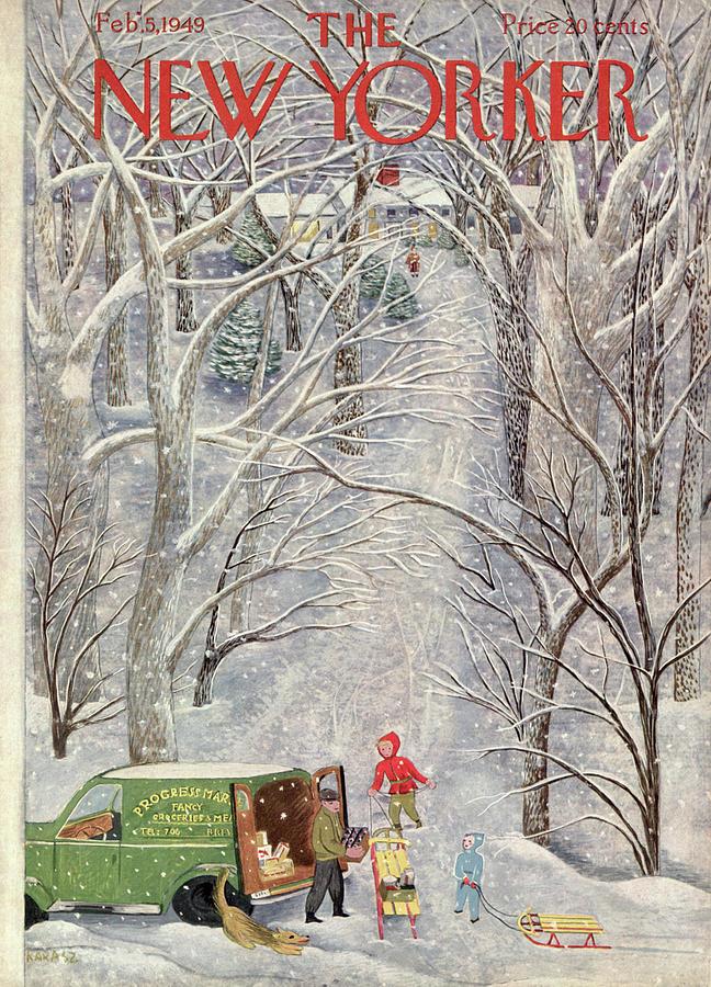 New Yorker February 5th, 1949 Painting by Ilonka Karasz