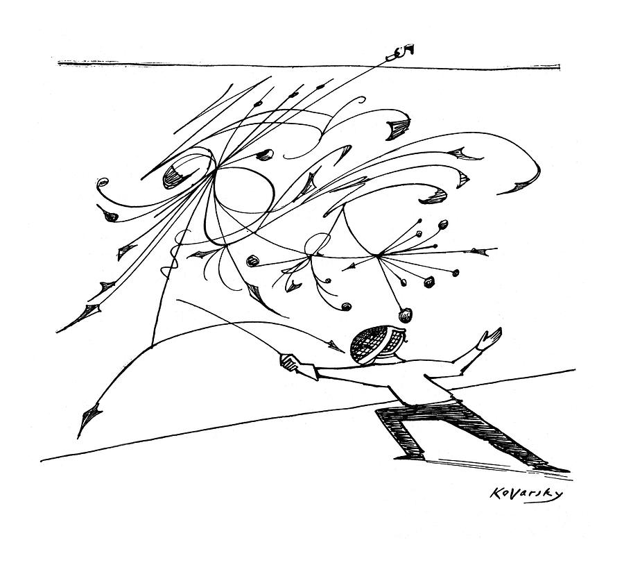 New Yorker February 5th, 1955 Drawing by Anatol Kovarsky