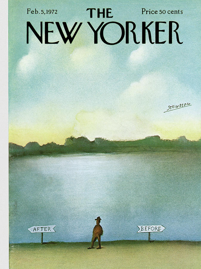 New Yorker February 5th, 1972 Painting by Saul Steinberg