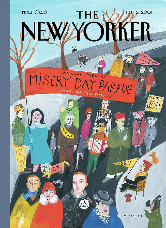 Misery Day Parade Painting by Maira Kalman
