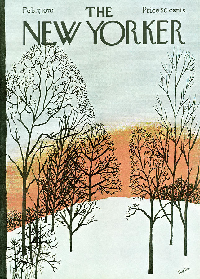 New Yorker February 7th, 1970 Painting by David Preston