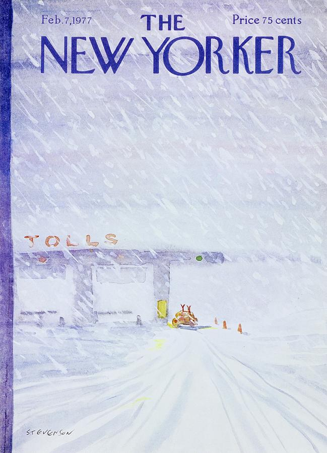 New Yorker February 7th 1977 Painting by James Stevenson