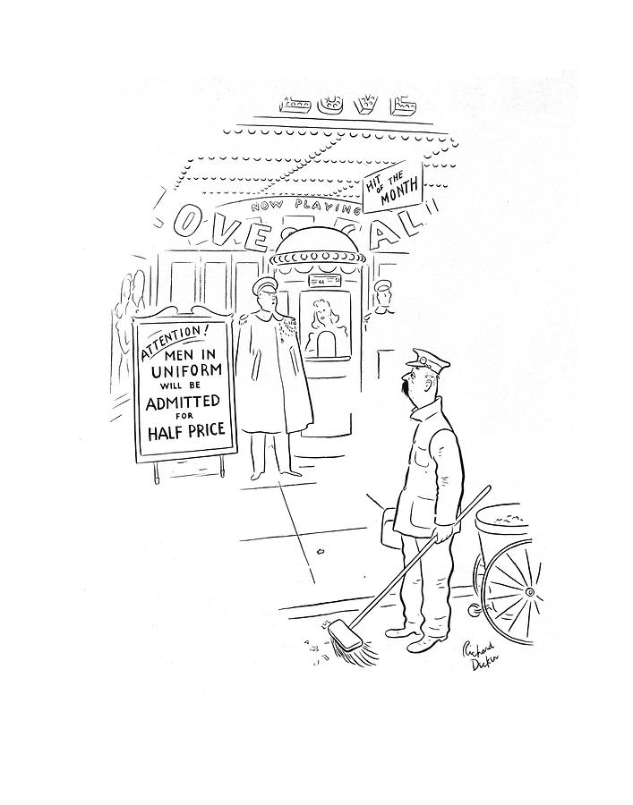 New Yorker February 8th, 1941 Drawing by Richard Decker