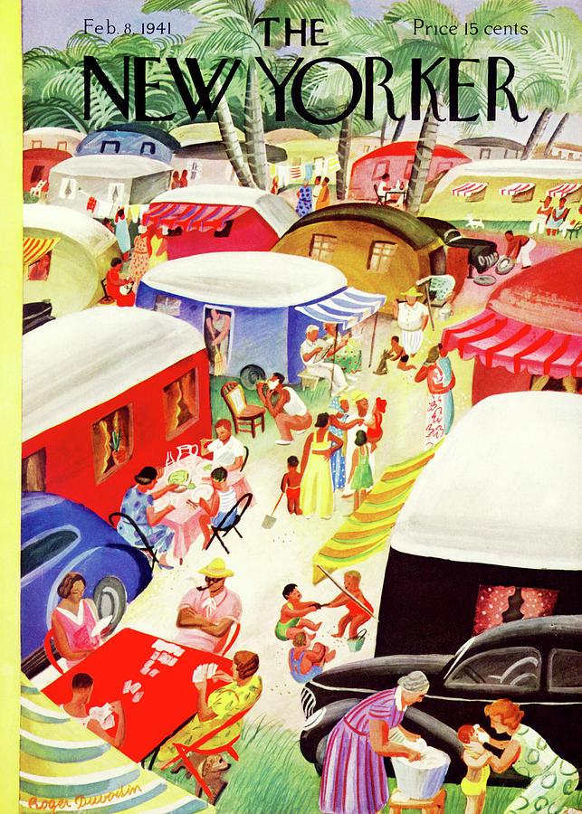 New Yorker February 8, 1941 Painting by Roger Duvoisin
