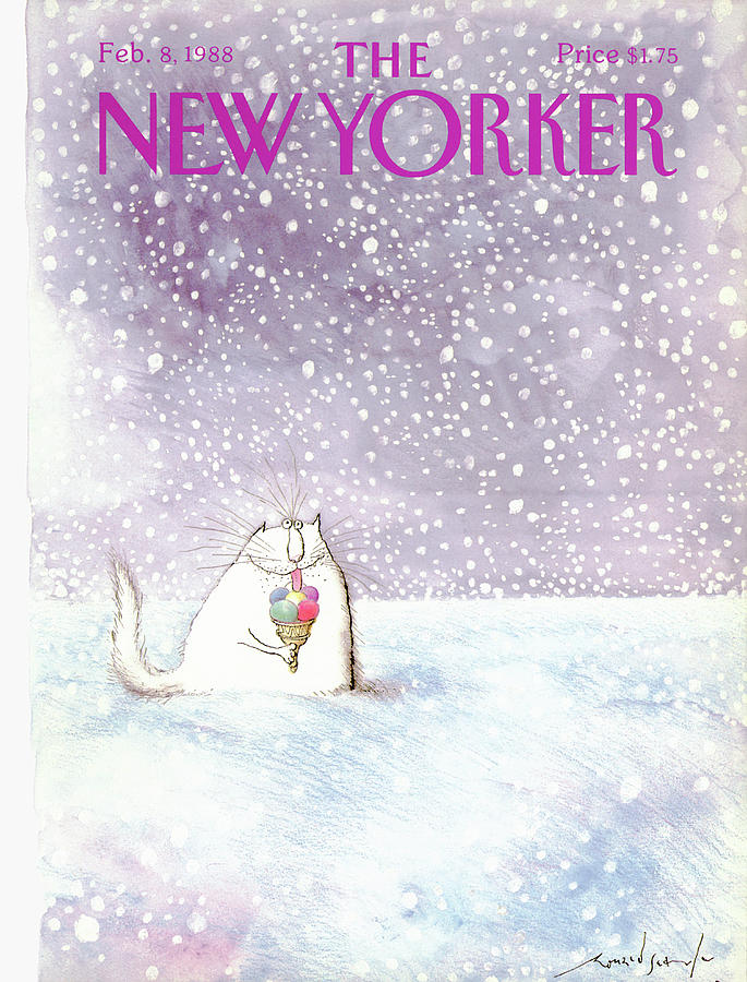 New Yorker February 8th, 1988 Painting by Ronald Searle