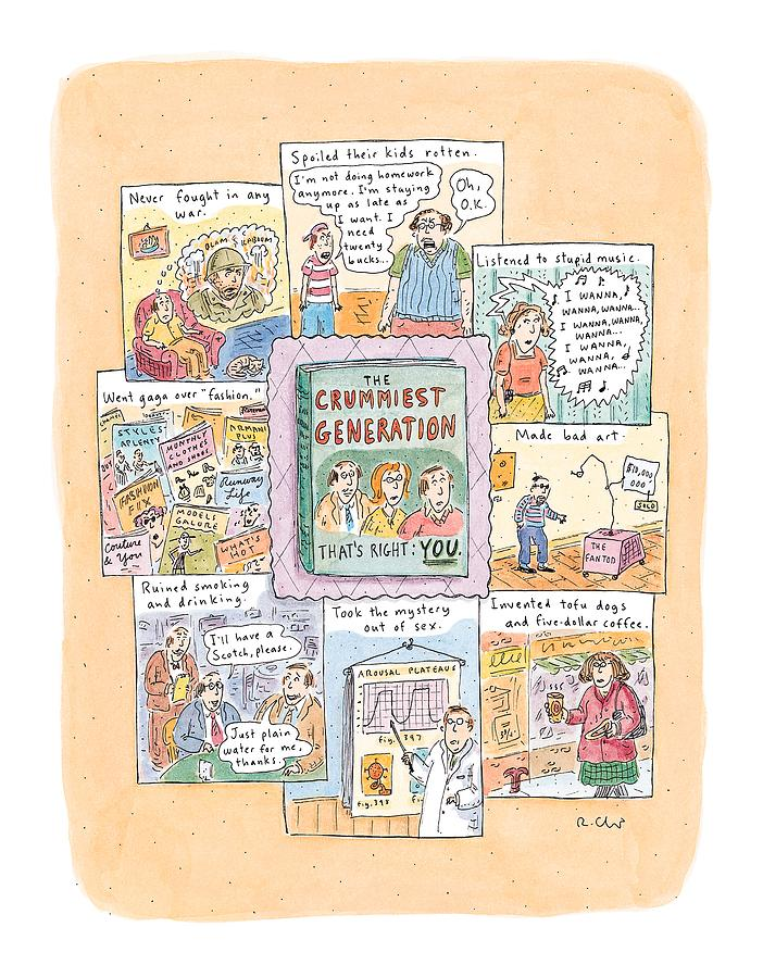 New Yorker February 8th, 1999 Drawing by Roz Chast