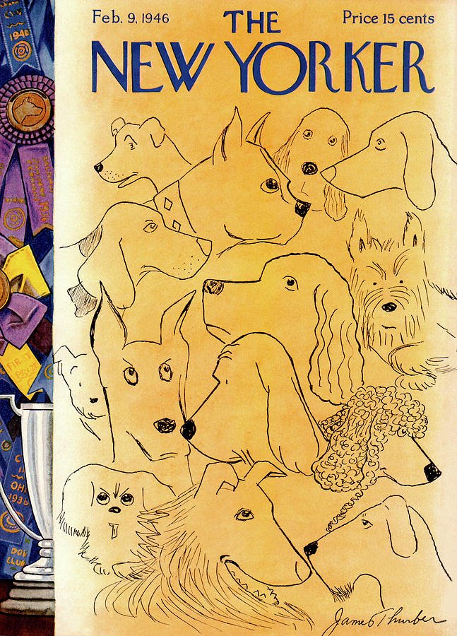 February 9th Painting - New Yorker February 9th, 1946 by James Thurber