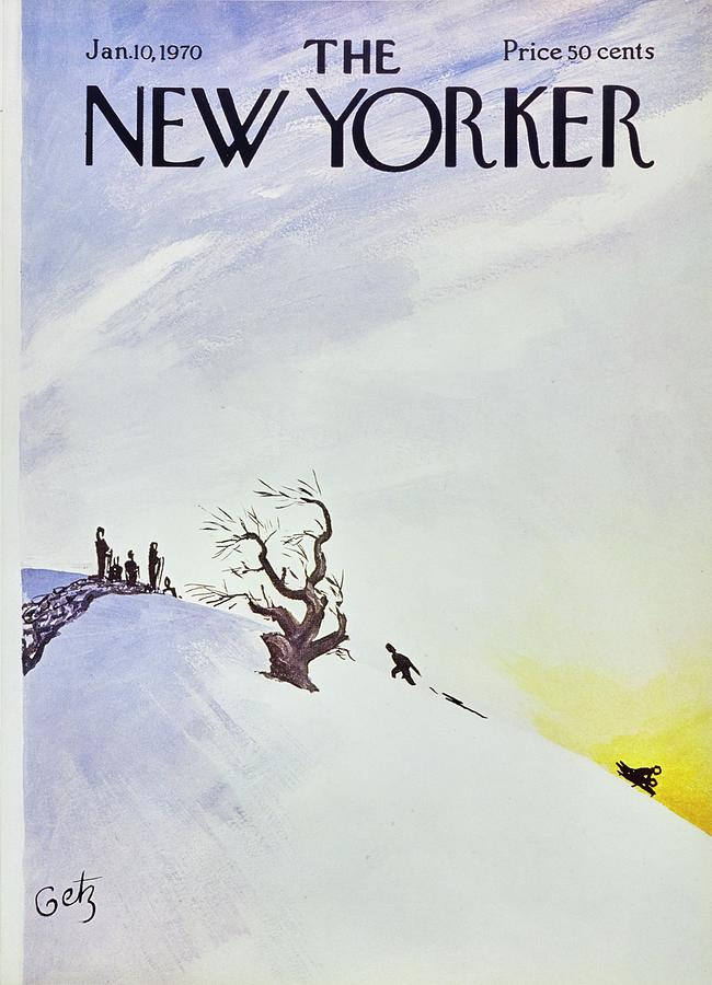 New Yorker January 10th 1970 Painting by Arthur Getz
