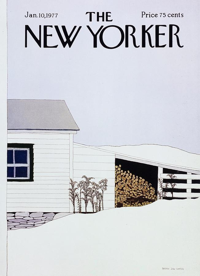 New Yorker January 10th 1977 Painting by Gretchen Dow Simpson