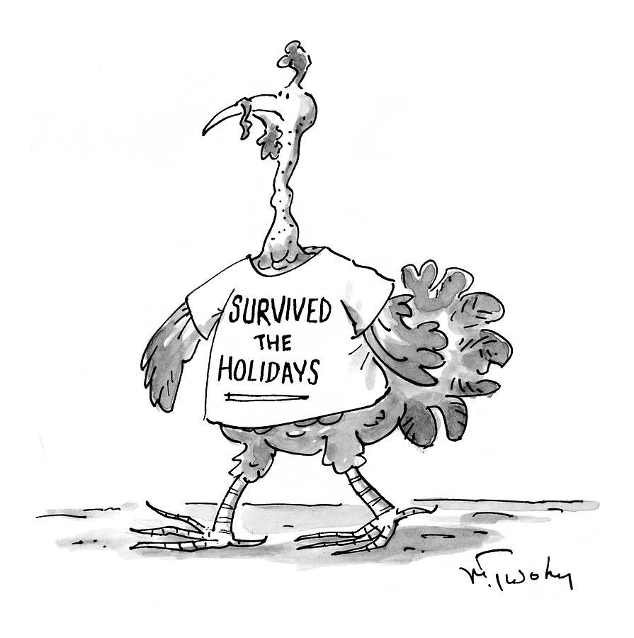 Holidays Drawing - New Yorker January 11th, 1999 by Mike Twohy
