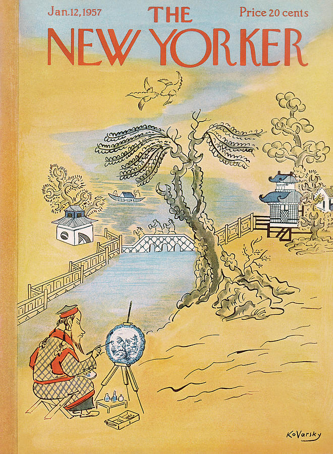 New Yorker January 12th, 1957 Painting by Anatol Kovarsky