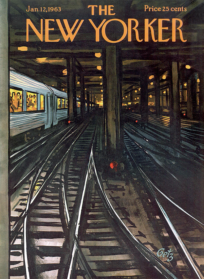New Yorker January 12th, 1963 Painting by Arthur Getz