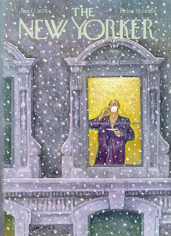 New Yorker January 12th, 1976 Painting by Charles Saxon