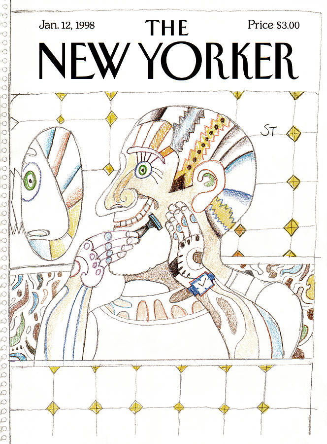 New Yorker January 12th, 1998 Painting by Saul Steinberg