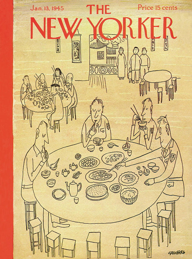 New Yorker January 13, 1945 Painting by Saul Steinberg