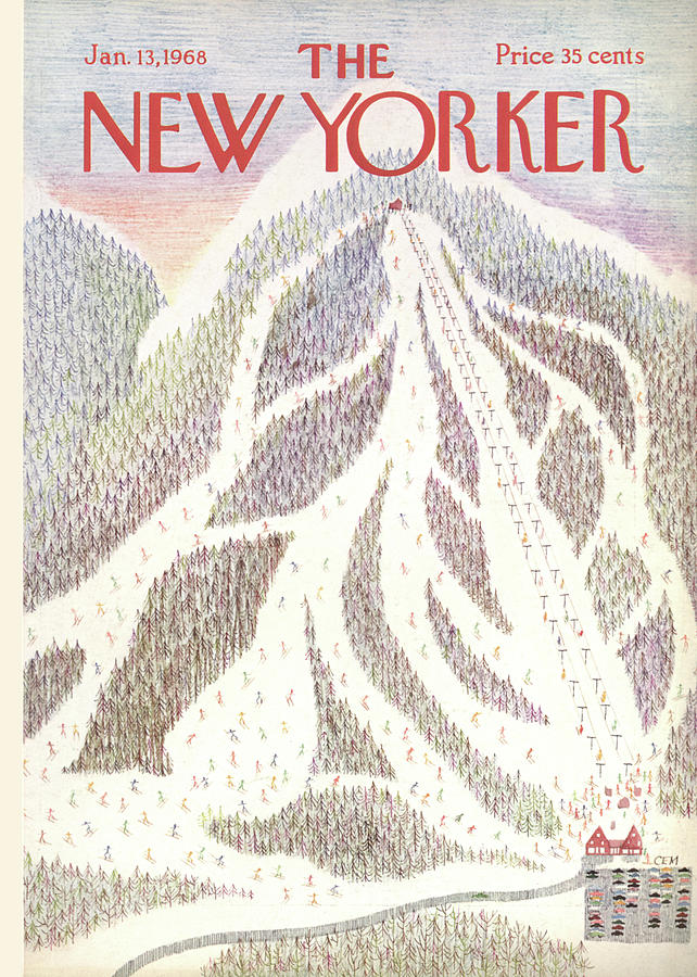 New Yorker January 13th, 1968 Painting by Charles E Martin