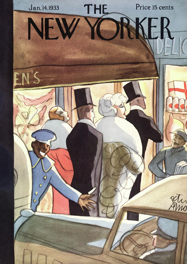 New Yorker January 14th, 1933 Painting by Peter Arno