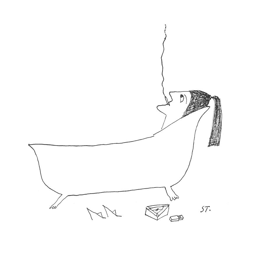 New Yorker January 14th, 1956 Drawing by Saul Steinberg