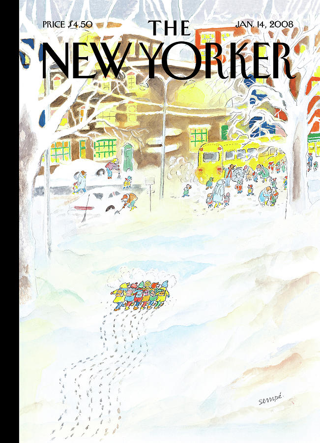 New Yorker January 14th, 2008 Painting by Jean-Jacques Sempe