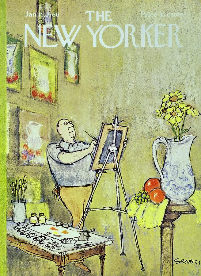 New Yorker January 15th 1966 Painting by Charles D. Saxon