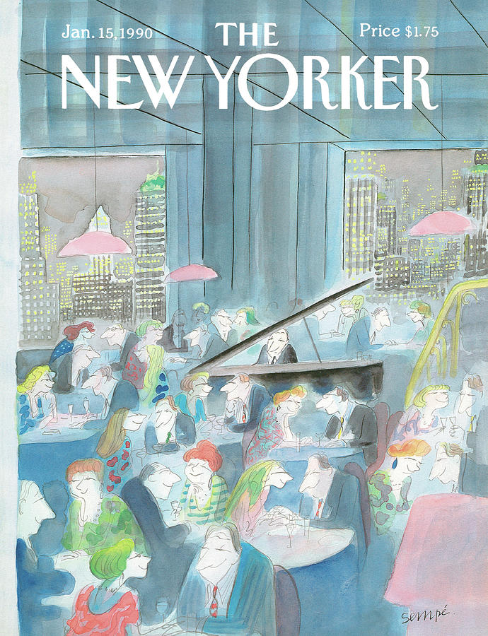 New Yorker January 15th, 1990 Painting by Jean-Jacques Sempe