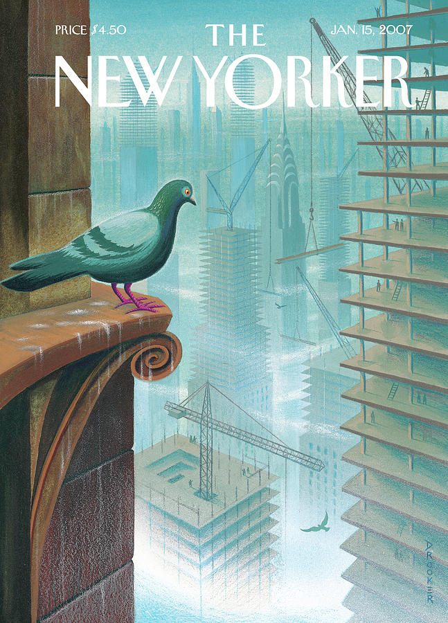 New Yorker January 15th, 2007 Painting by Eric Drooker