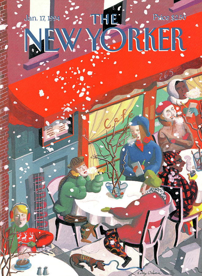 New Yorker January 17th, 1994 Painting by Kathy Osborn