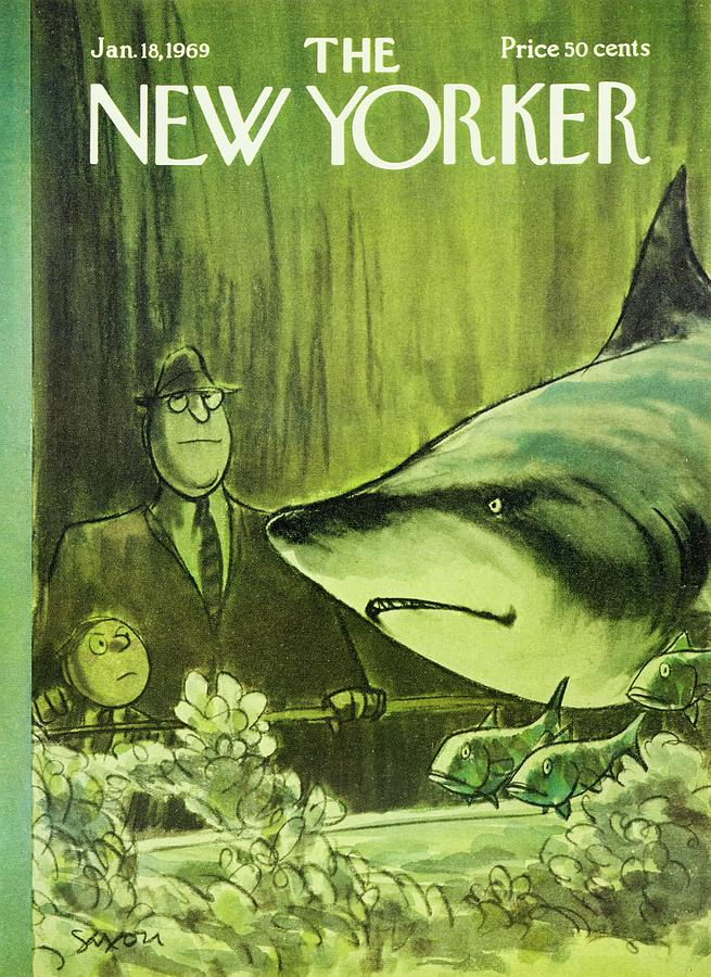 New Yorker January 18th 1969 Painting by Charles D Saxon