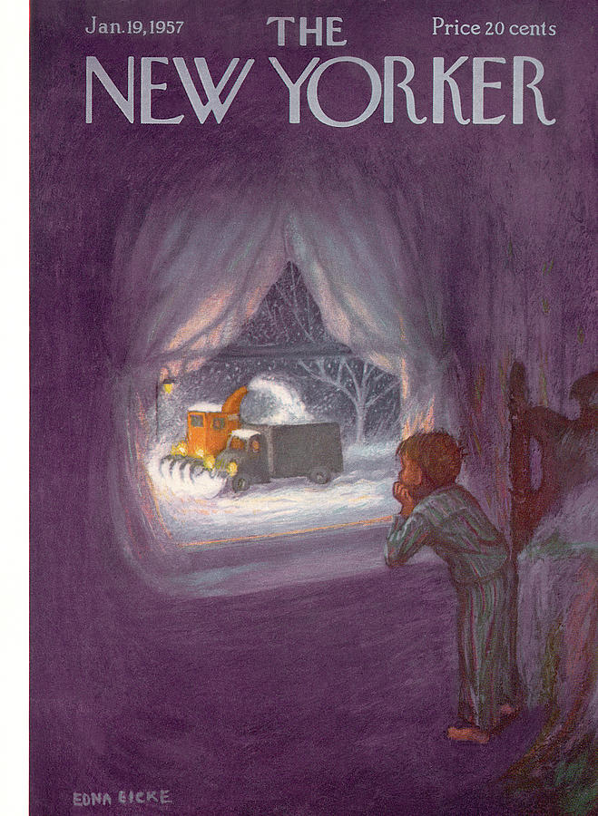 New Yorker January 19th, 1957 Painting by Edna Eicke