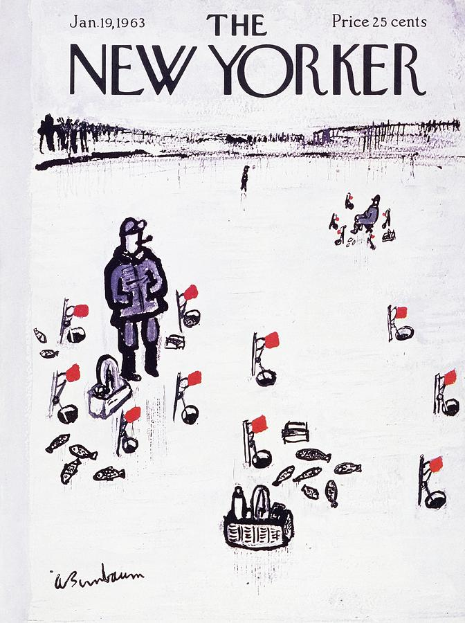 New Yorker January 19th 1963 Painting by Aaron Birnbaum